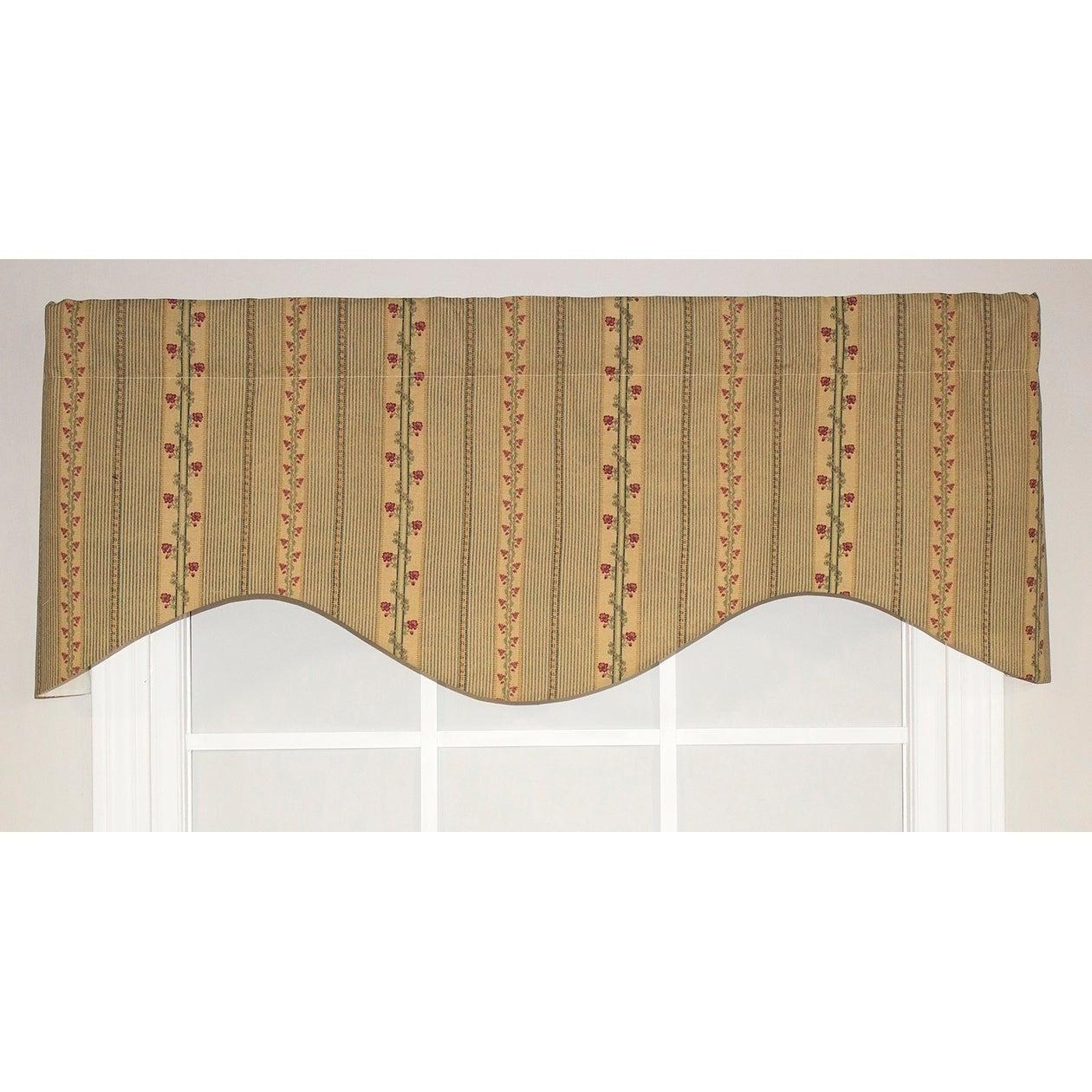 cornice window valance leather window rlfhomeflemingstripecornicewindowvalance rlf home fleming stripe cornice window valance ebay