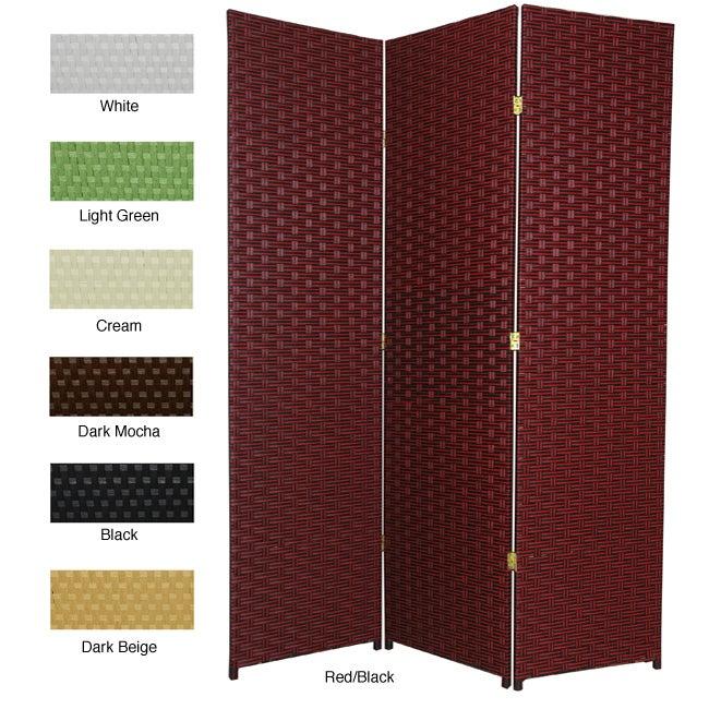 Handmade Woven Fiber 6 foot 3 panel Room Divider China eBay