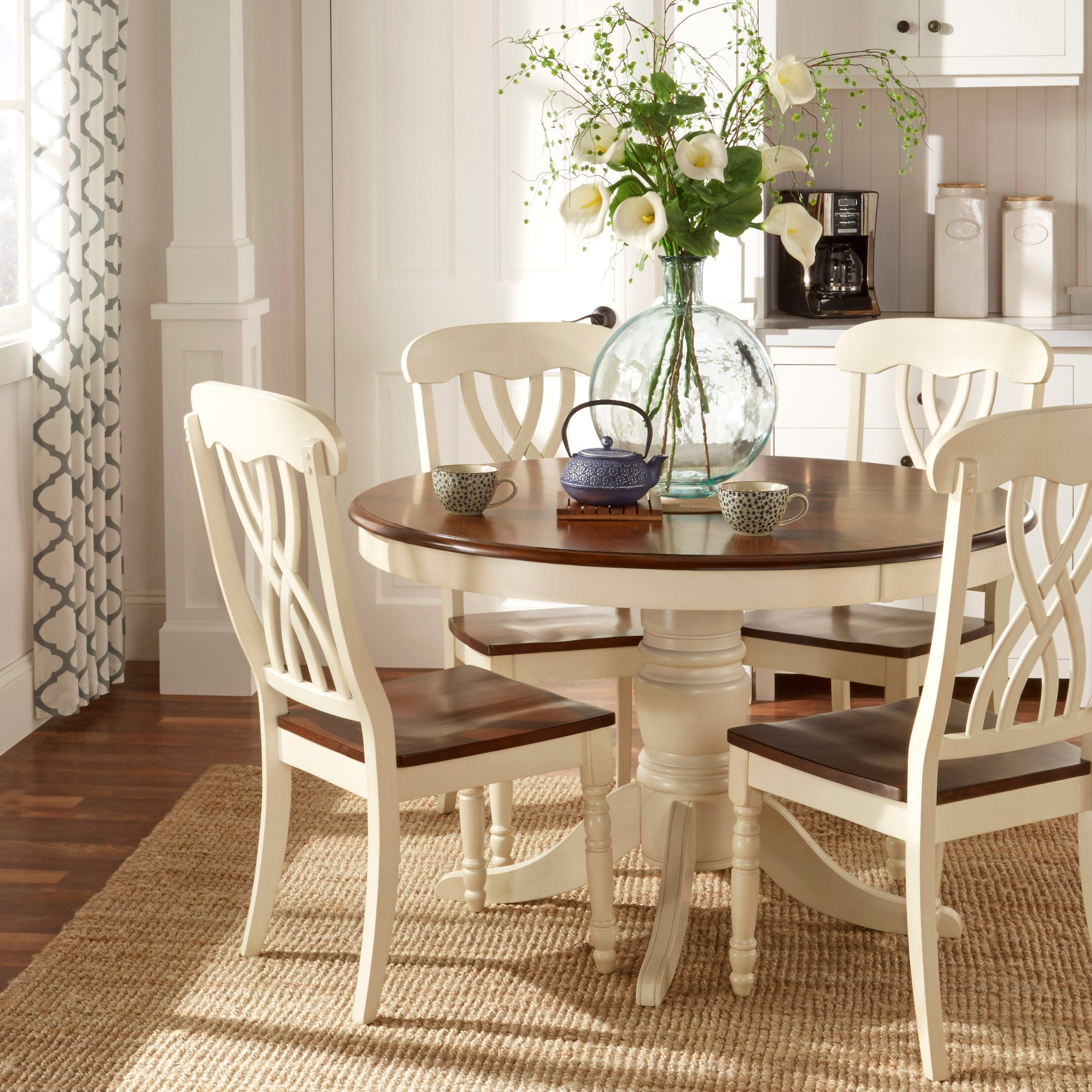 Mackenzie Country Style Two Tone Dining Chairs Set