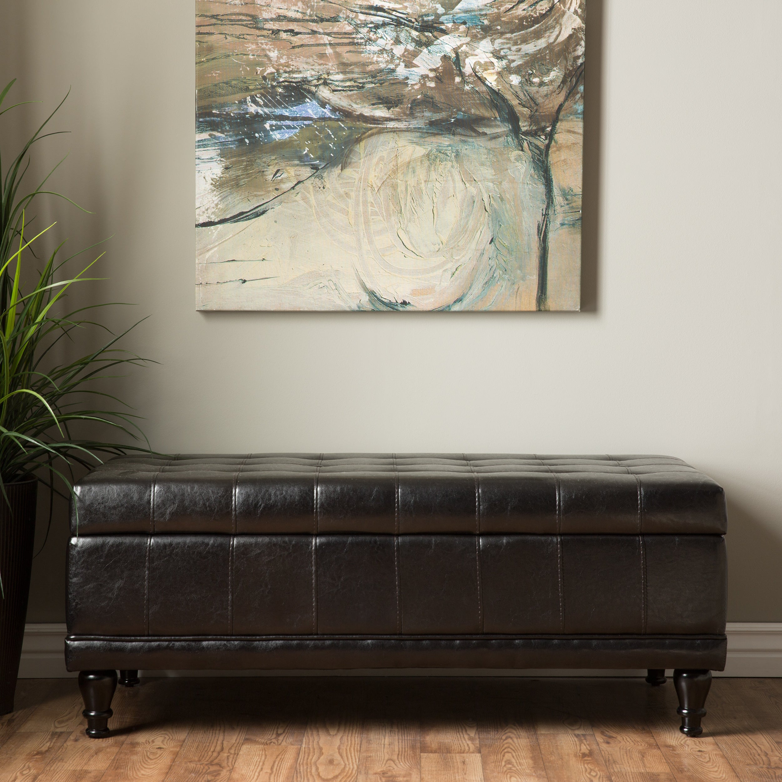 Furniture Of America Espresso Flip Top Bicast Leather