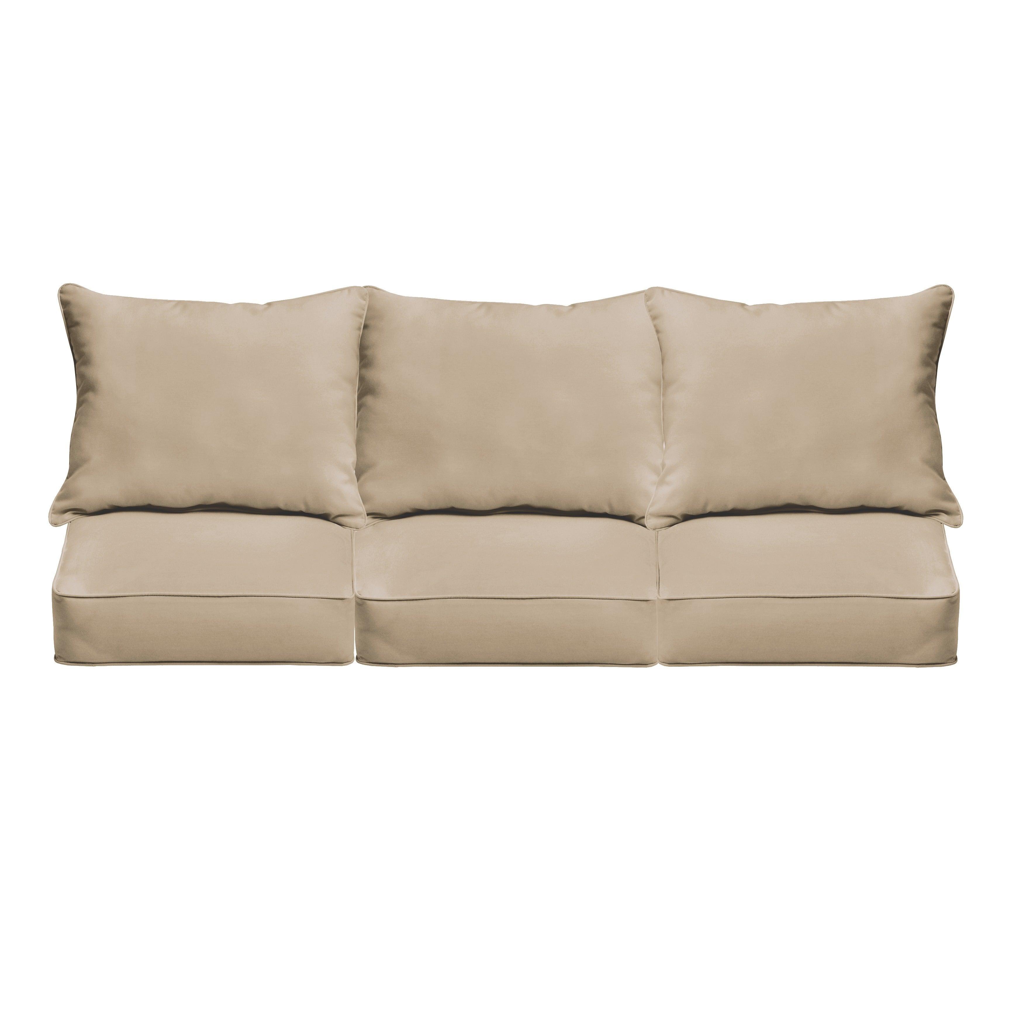 Clara Indoor Outdoor Wicker Sofa Cushion Set Made