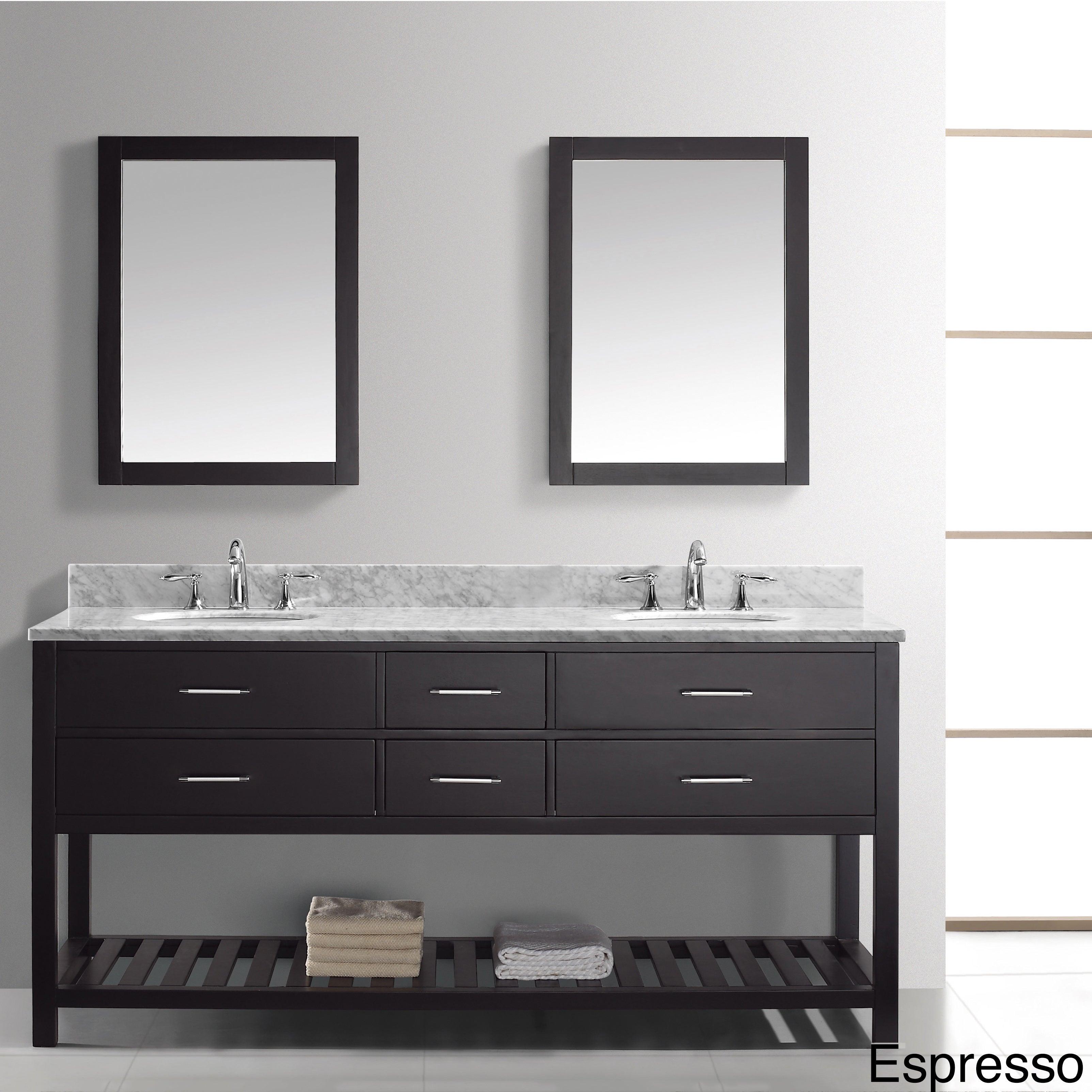 Virtu Usa Caroline Estate 72 Inch Double Sink