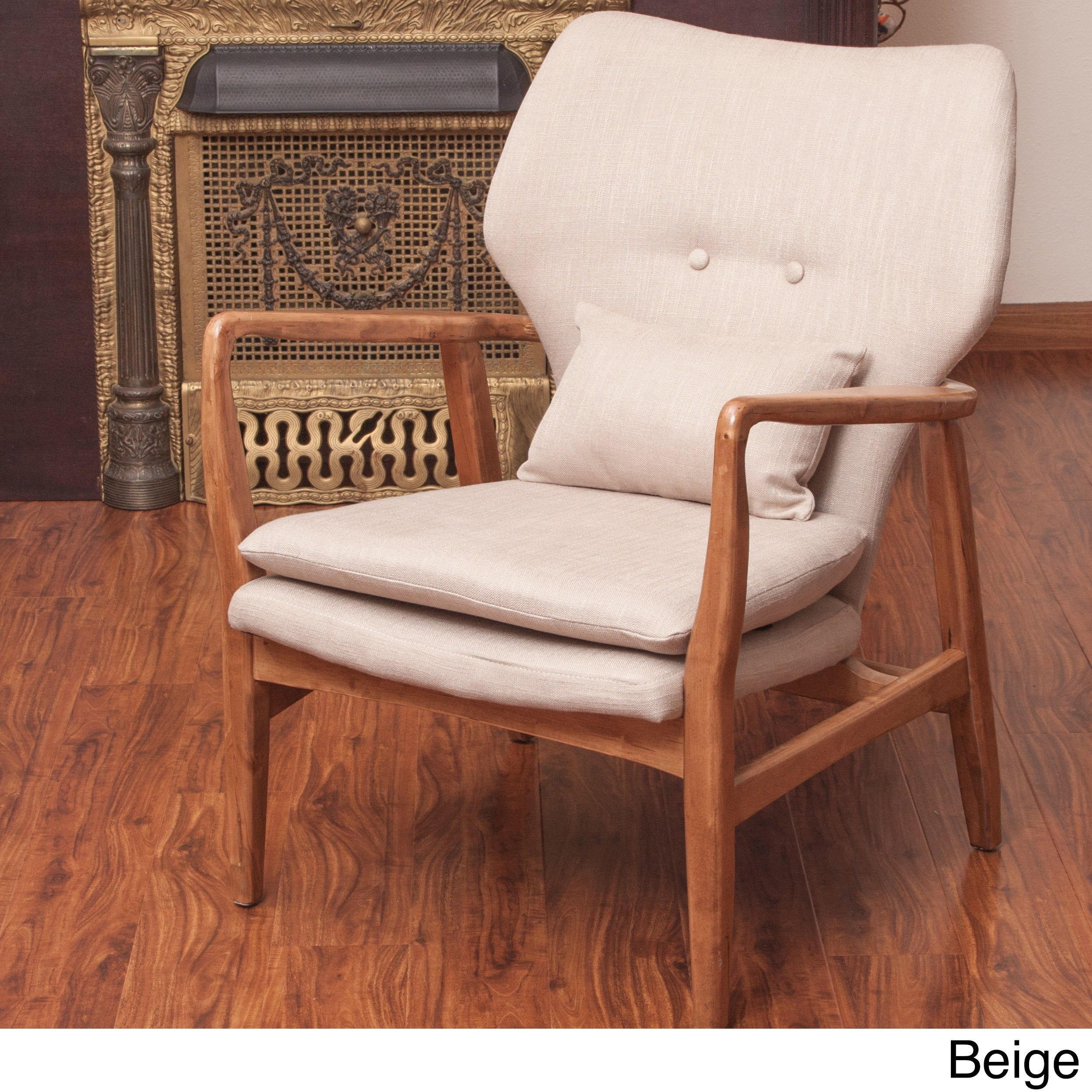 Had Wood Frame Club Chair By Christopher Knight