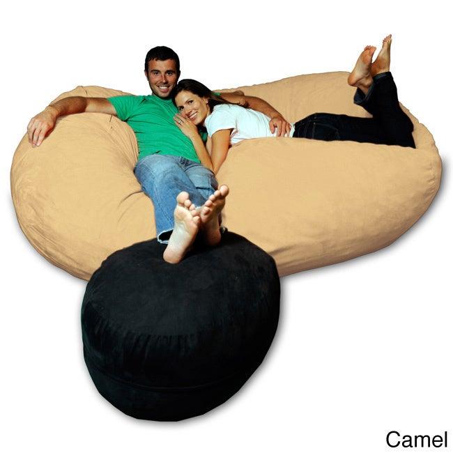 Soft Memory Foam Microsuede 7 5 Foot Beanbag Chair Lounger