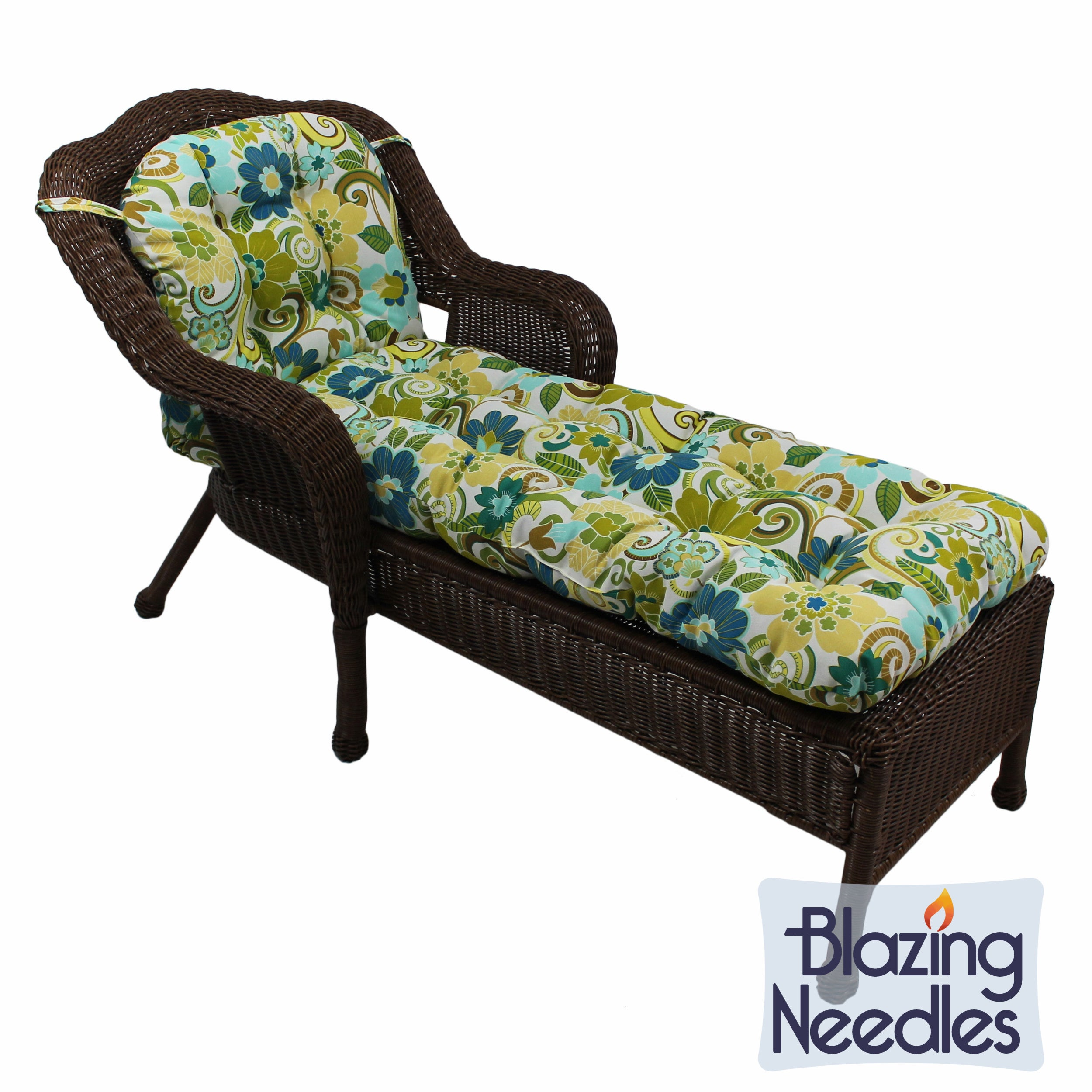 blazing needles 69x21 inch u shaped outdoor tufted chaise lounge