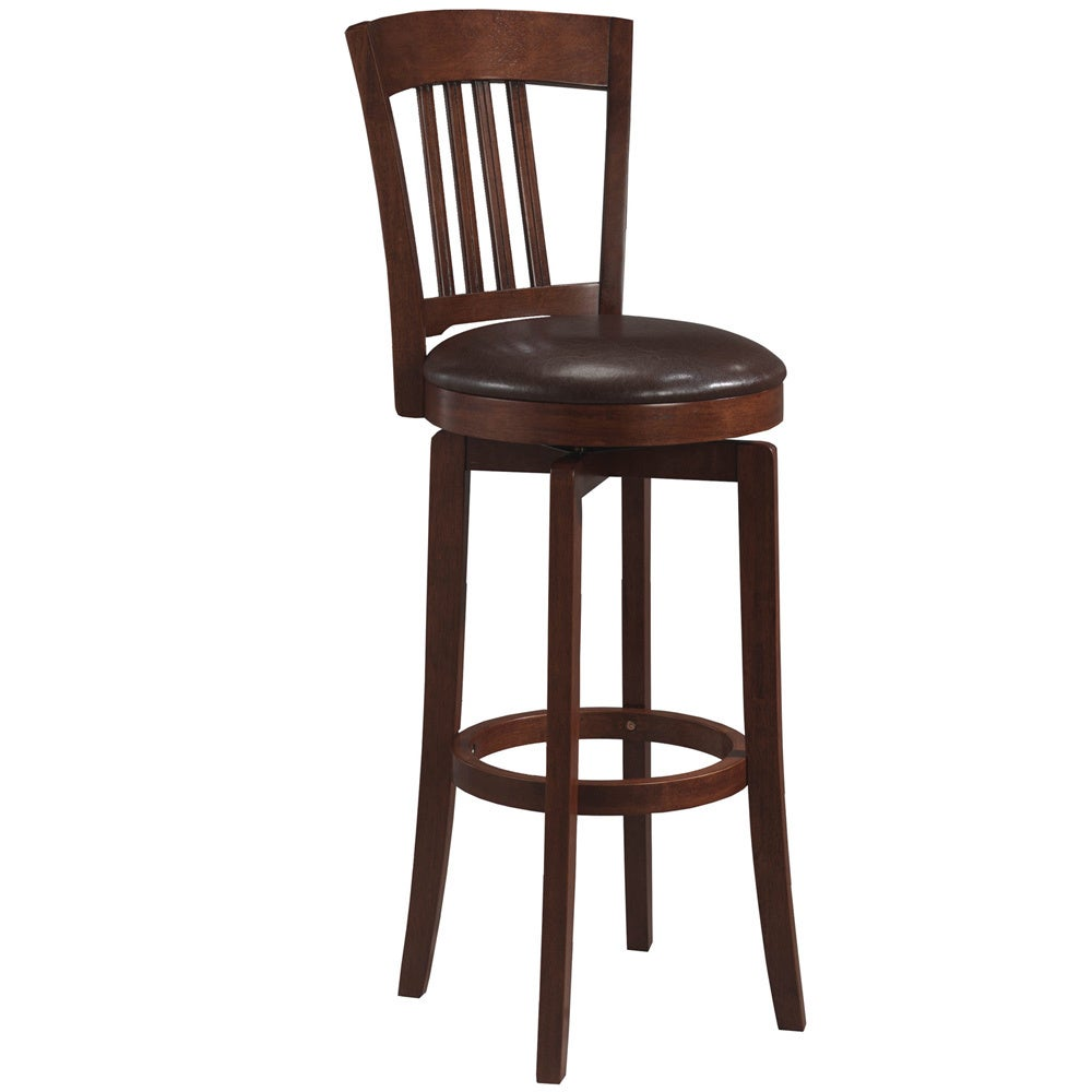 hillsdale canton 30 swivel bar stool with vinyl seat in brown ebay