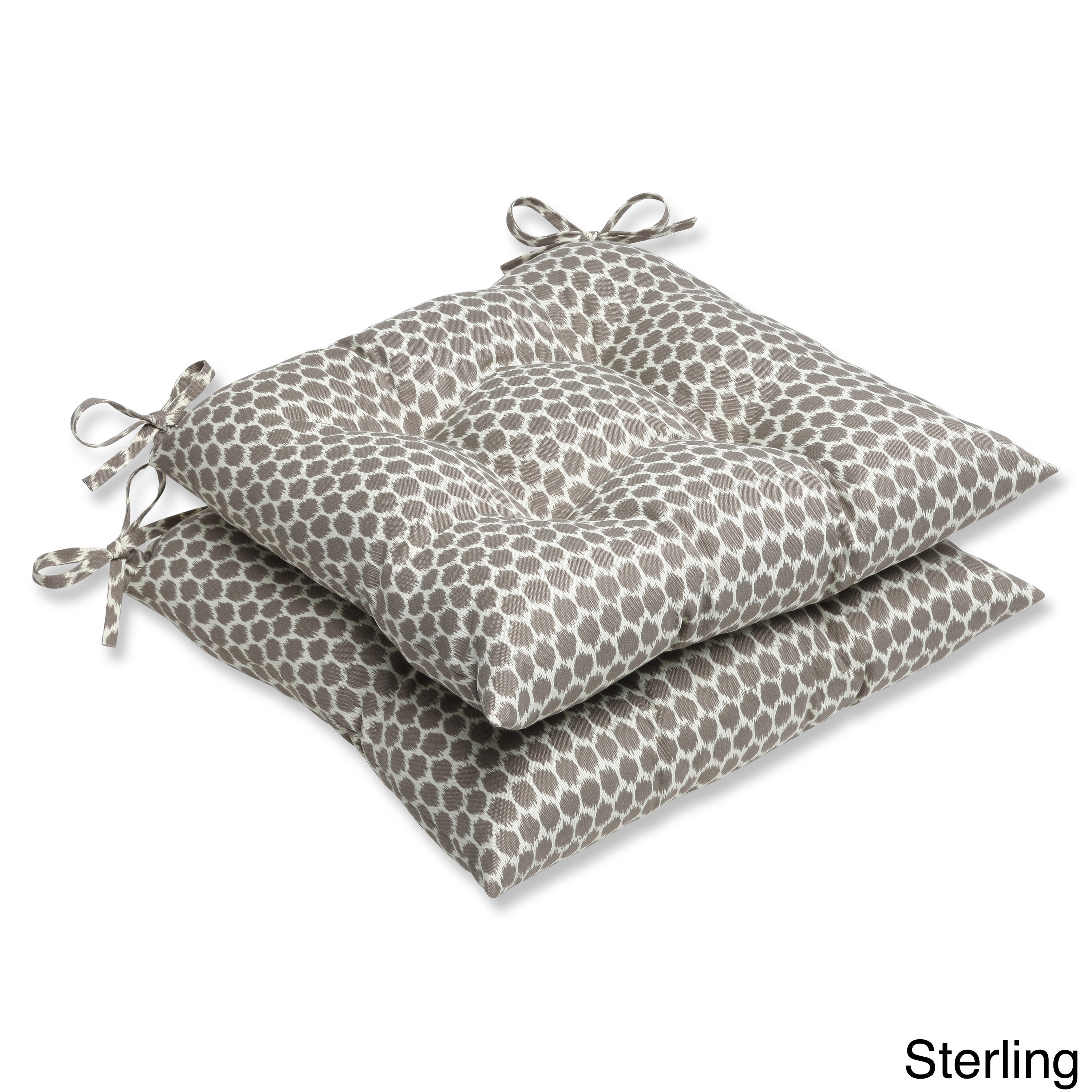Outdoor Seeing Spots Sterling Wrought Iron Seat Cushion Set Of 2