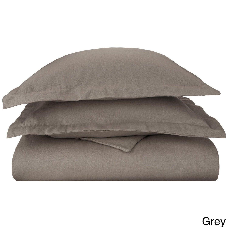Superior Solid Cotton Flannel Duvet Cover Set Ebay