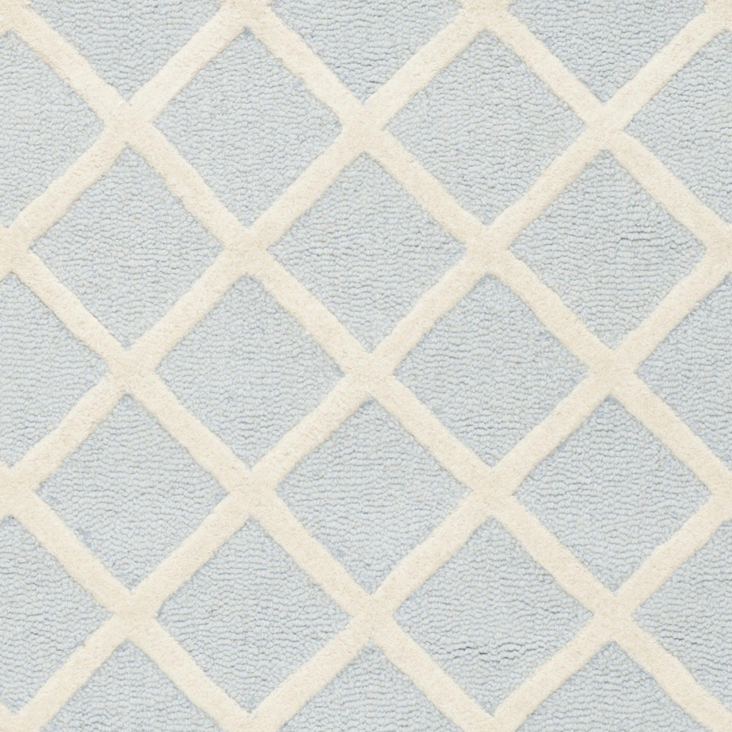 Safavieh Handmade Cambridge Light Blue Ivory Wool Rug