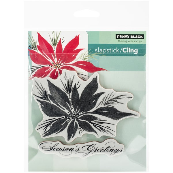 Penny Black Cling Rubber Stamp 5X7.5 Sheet Red Star
