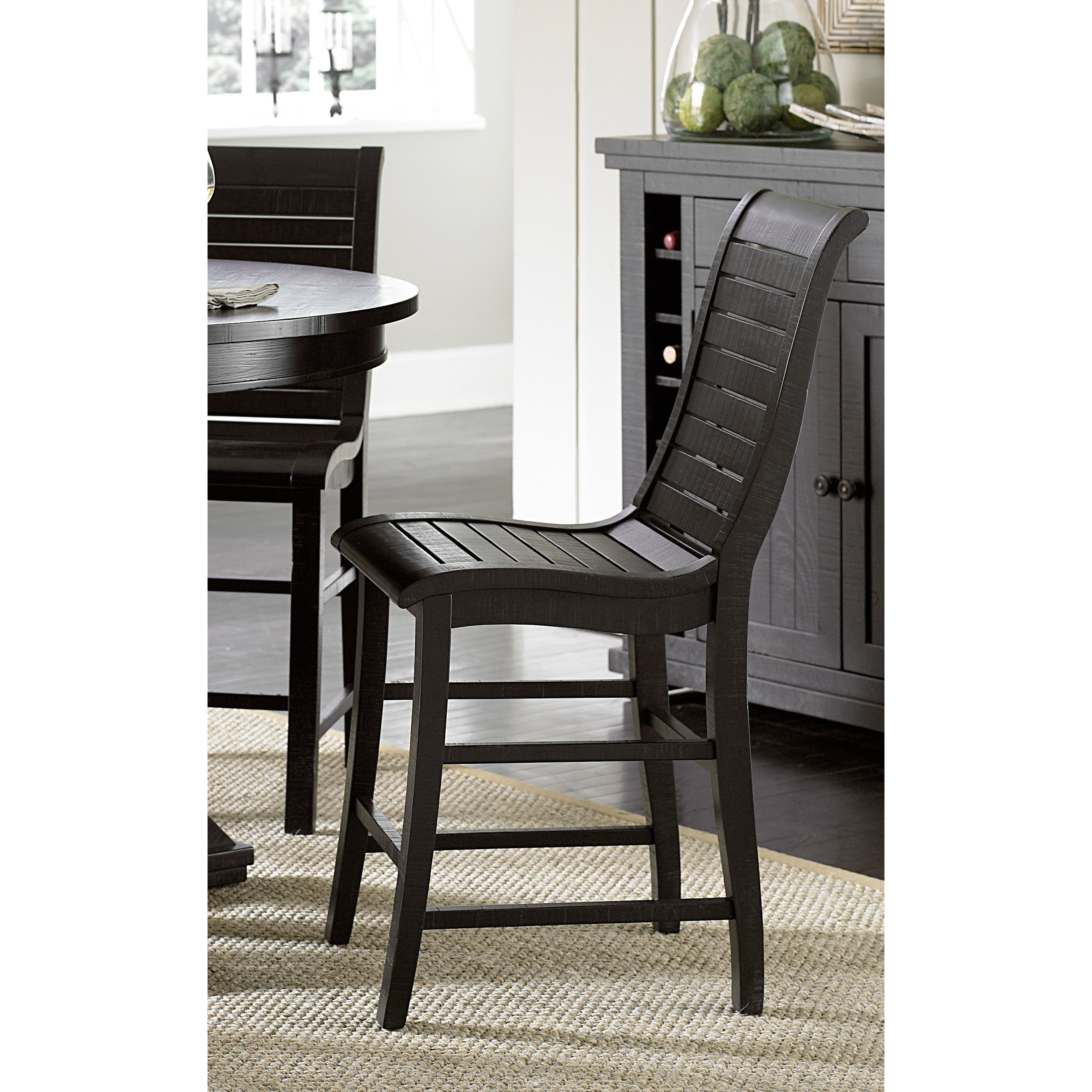 Willow Distressed Black Counter Chairs Set Of 2