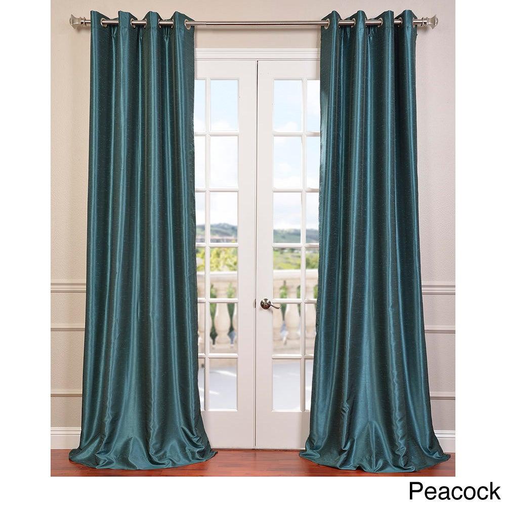 Exclusive Fabrics Textured Dupioni Faux Silk 96 Inch
