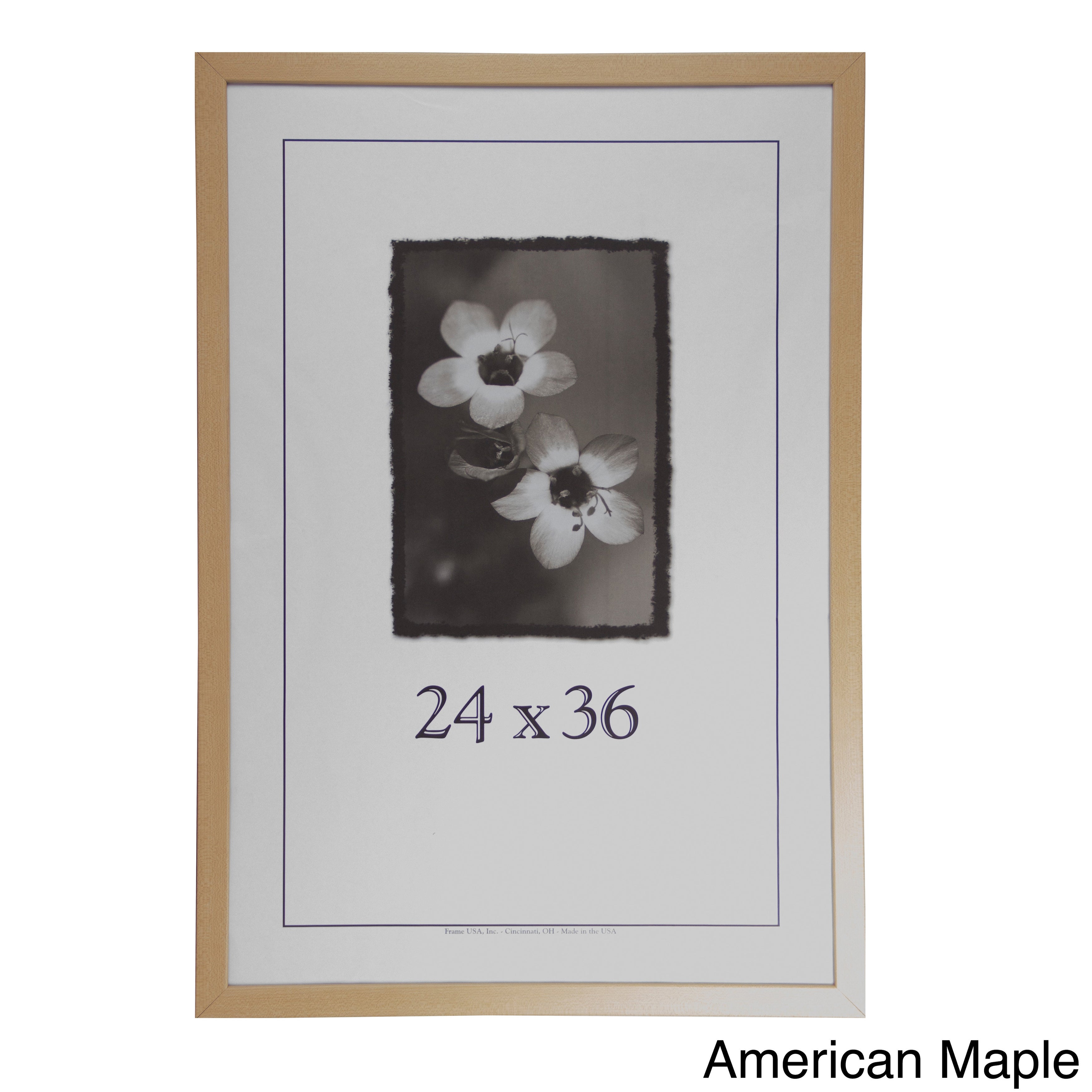 Corporate 24-inch X 36-inch Picture Frame American Maple 24x36 | eBay