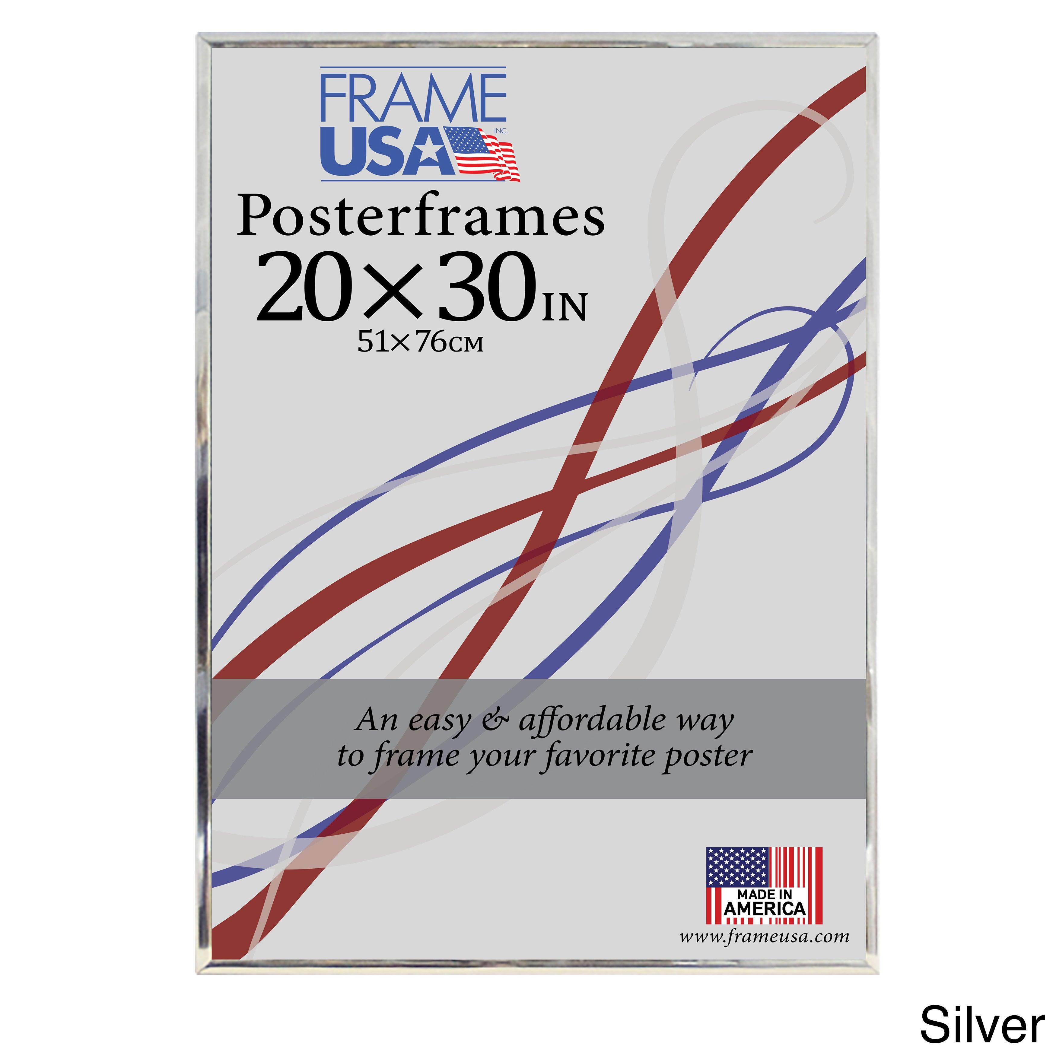 Hardboard Poster Frame (20 X 30-inch Image Size) Silver 20x30 | eBay
